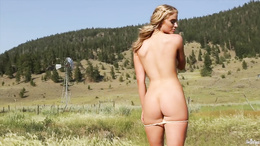 See Maya Rae getting totally naked outdoors