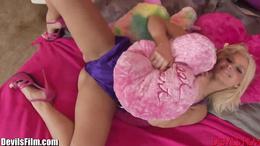 DevilsFilm Horny Blonde Shows Off For Camera