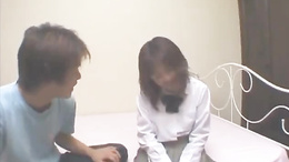 Haruka has hairy cunt aroused and fucked