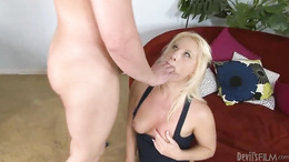 Kimmy Olsen gets her mouth filled with hard cock