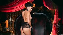 Slim petite Ariana Marie sexy rubber solo masturbation