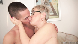 Older blonde pounded by a hard dick