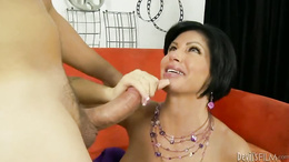 Milf Shay Fox gets her mouth crammed with hard cock