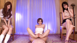 Oriental POV gangbang with tiny Yuria Satomi