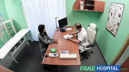 FakeHospital Black haired student wants cock