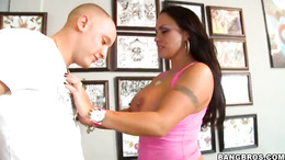 Naughty Mariah Milano gobbles down this skin flute