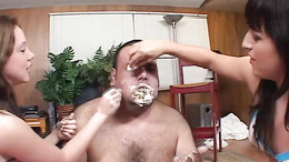 Avy Lee Roth stuffs cake into this fat fucks face