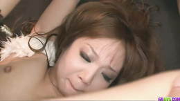 Pervert Asian babe Mizuki Ishikawa pussy licked and pou