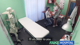 FakeHospital Stud cums all over nurses stomach