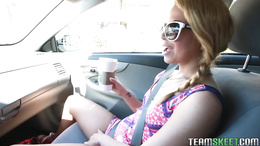 Pretty blonde teen Alina West is taken for a ride