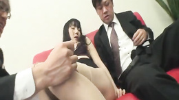 Miho Wakabayashi Creampied In A Threesome