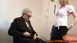 CFNM femdom demanding oral from her subject