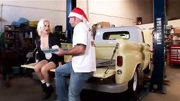 Big-tit blonde slut gets a surprise at work