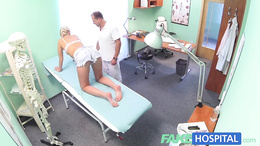 FakeHospital Petite euro chicks backache cured by sex
