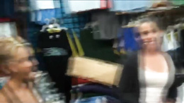 Cute brunette shopper paid for public sex in the mall