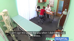 FakeHospital Sexy redhead will do anything for sicknote