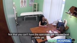 Fake Hospital Squirting MILF wants breast implants