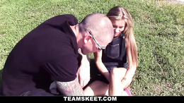 Stud takes care of an injured babe and gets to fuck her as a reward