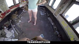 Couple found an old house and proceeded to fuck hardcore style