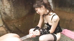 Tomoka Matsunami Japanese female domination in outdoor xxx scenes