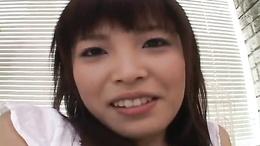 Cute Asian teen Yurika Goto sucking that chubby cock impressively