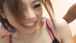 Kinky Reina Yoshii enjoys sex toys play with wide orgasmic smile