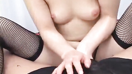 Very young Japanese AV Model rides hard dick like second nature