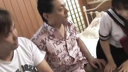 Tempting schoolgirl Momo Aizawa blows, strips naked and fucks hard