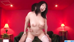 Megumi Haruka tries sex with two men and gets wild on both their cocks