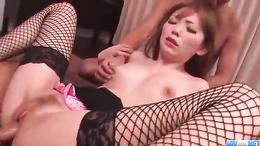 Buruma Aoi getting nailed by two hueg throbbing dicks superbly
