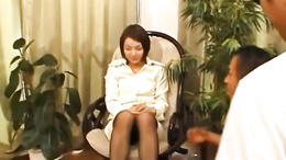 Milf Mini Hirosue spreads wide to receive a toy in her hairy cunt