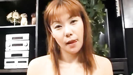 Graceful doll Haruka Matsui gets pussy fucked on a big couch