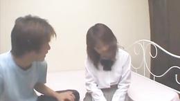 Sexy schoolgirl Haruka Hoshikawa in her uniforms enjoys hard dick