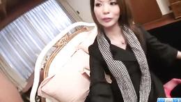 Sensual woman Rinka Kanzaki provides blowjob in advance to a naughty fuck