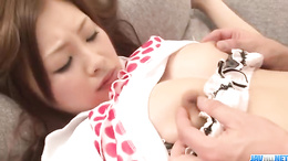 Steaming sofa sex session with the intoxicating milf Suzuka Ishikawa