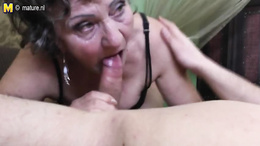 Fat granny with saggy tits gets banged hard by a big young dick