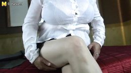 Fat mature office lady strips to reveal her huge tits and fat pussy