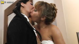Mature babes take on a BBC in a steaming hot interracial threesome