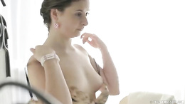 Young naive girl is all right with being penetrated on massage table