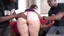 BBW Virgo Peridot goes with two black dudes and gets double penetrated