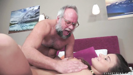 Anita Bellini fucks an older man