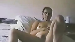 Wild lovers play dirty games in bed