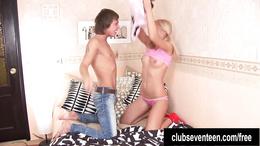 Teen Jolanda gets ass fucked and cummed