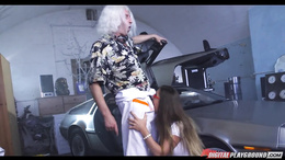 Cathy Heaven pussy pounded in this movie parody back in time