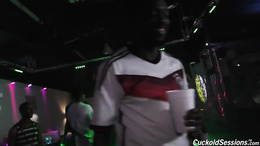 Big tits Brooke Wild gets fucked and facials in a club from blacks