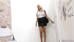 Amazing scenes of gloryhole porn with a blonde teen in love with sucking