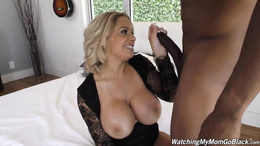 Very busty MILF Alyssa Lynn getting romped by a massive black dick