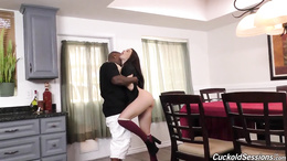White dudes watch as sexy Lana Rhoades takes a hard fuck from a BBC