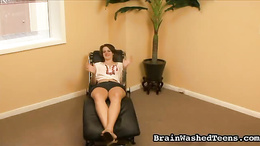 Hot teen's therapist session ends with her sucking his big dick