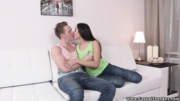 Shy sweet cunt persuaded to give pussy action for some good money